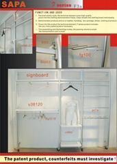 Aluminium display rack