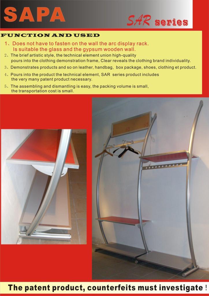 stand arc display rack 1