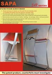 stand arc display rack