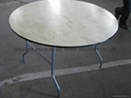 Folding Round Table -Birch Wood