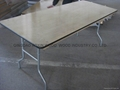 Folding Trestle Table -Birch Wood
