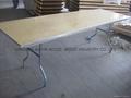 Folding Trestle Table -Birch Wood