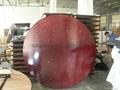 Round Folding Table - Mahogany