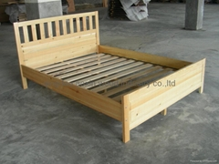 knocked-down Wooden Bed