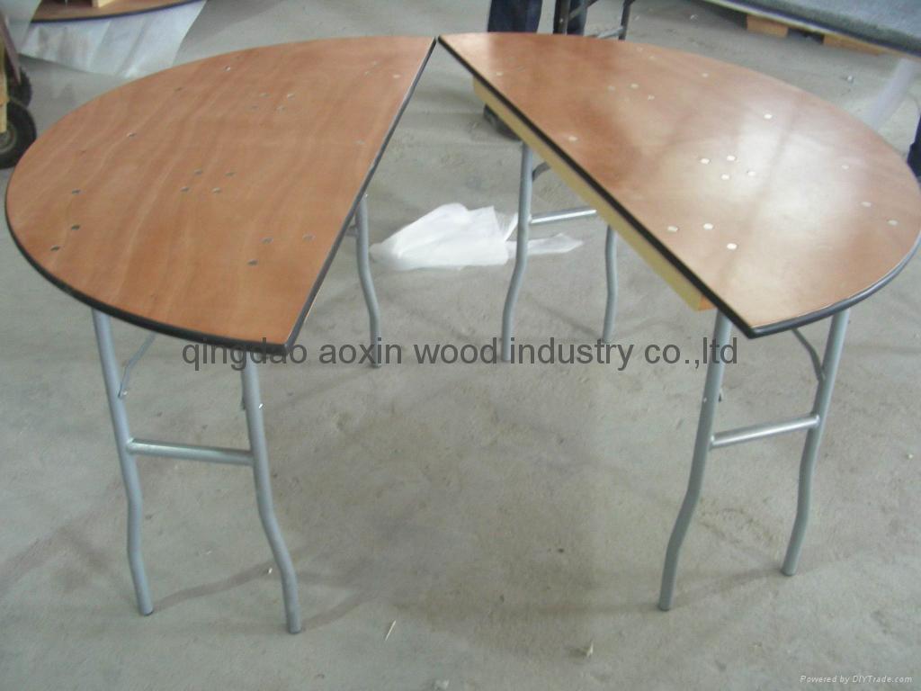 halfmoon table