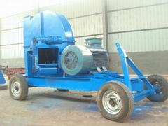大型可牽引移動式木材削片機