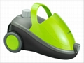 Mobile steam cleaner with wheel