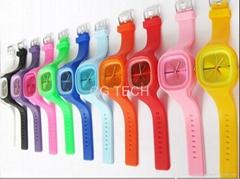 fashion silicone silicon jelly watch