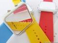 Pop fasion mirror LED digital silicon sports watch  1