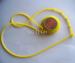 Silicone Silicon Round Mirror Digital LED pendant Watch