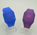 Ultra thin Plastic Hand Touch Screen LED red light wristwatch watch watches