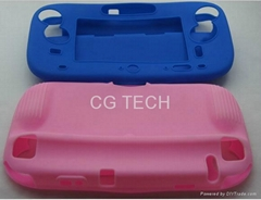 Silicone case TPU case crystal pro.tective case for Wii U GamePad Accessories