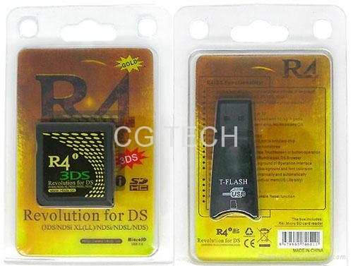 Gold R4i R4iDS R4i Gold 3DS flashcard for 3DS and dsi 1 45 (China