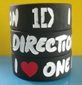 1 inch silicone bracelets with debossed color filled message