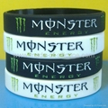 Debossed ink filled silicone wristbandsd