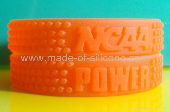 12 mm Embossed Silicone Wristbands  3