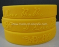 12 mm Embossed Silicone Wristbands  4