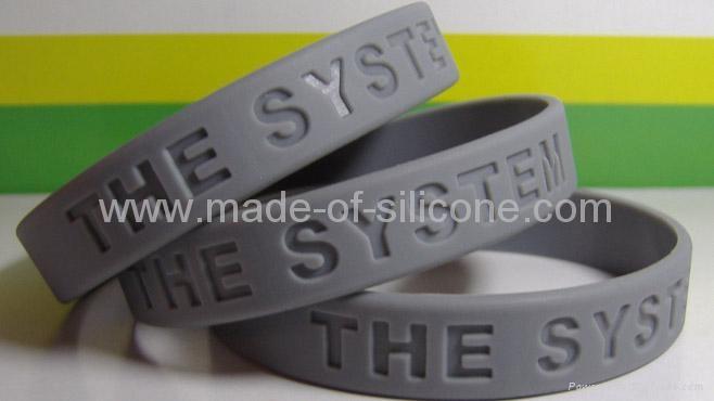 12mm凹字硅胶手环,硅胶手腕带, 硅胶手镯 3