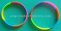 Segmented Color Debossed Silicone Wristbands 6