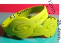 Watch Shape Deboosed Silicone Wristbands 2