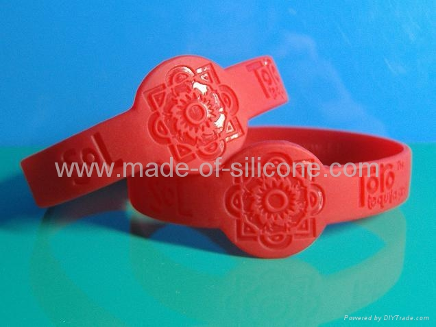 Watch Shape Deboosed Silicone Wristbands 5