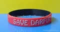 12mm Embossed Printed Silicone Wristbands 3