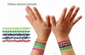 hollow out silicone wristband; Pierced silicone bracelet