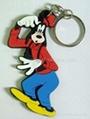 2D PVC Rubber Keychain