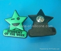 PVC Rubber Badge, Lepal Pin