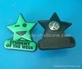 PVC Rubber Badge, Lepal Pin