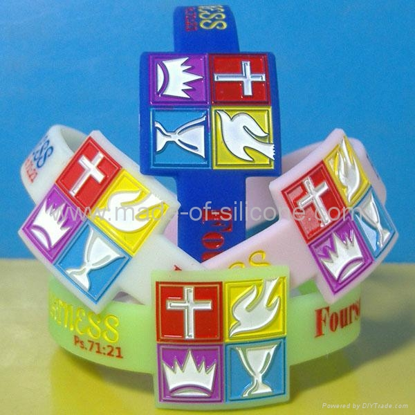Watch Shape Color Filled Silicone Wristbands 2