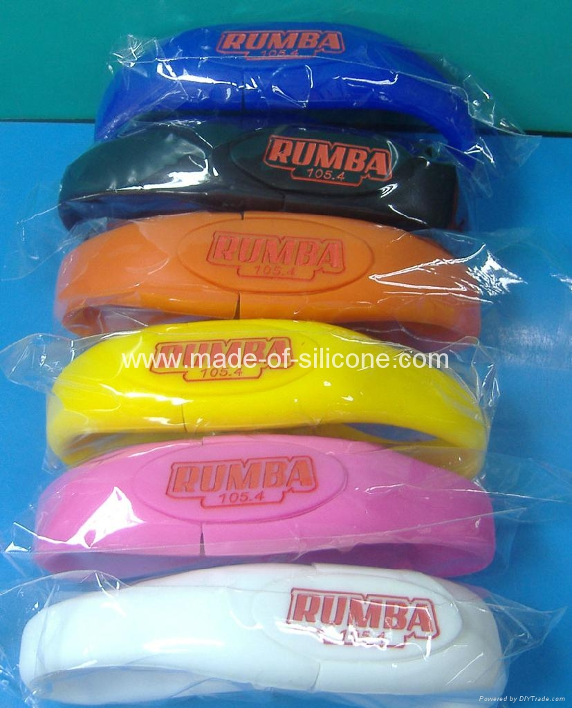 USB silicone wristbands 2