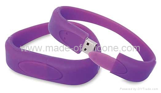 USB silicone wristbands 3