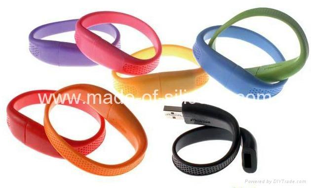 USB silicone wristbands 5