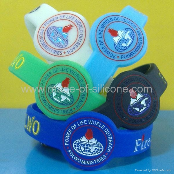 Watch Shape Color Filled Silicone Wristbands 5