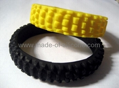 Silicone Tyre wristband