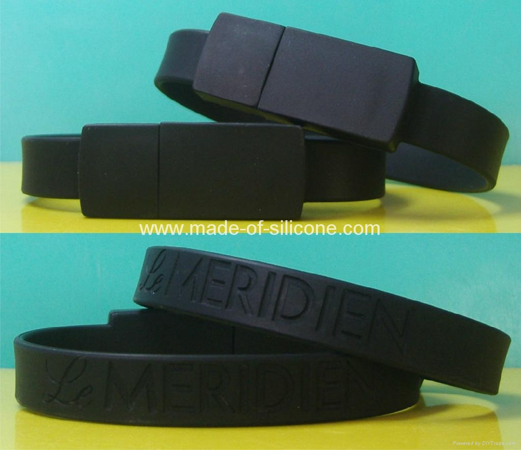 USB silicone wristbands 1