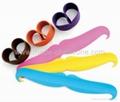 Mustache Silicone Slap wristband /Cramp wristband 2