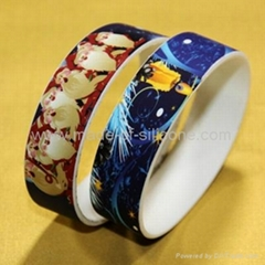 High Definition  Printing Silicone Wristbands