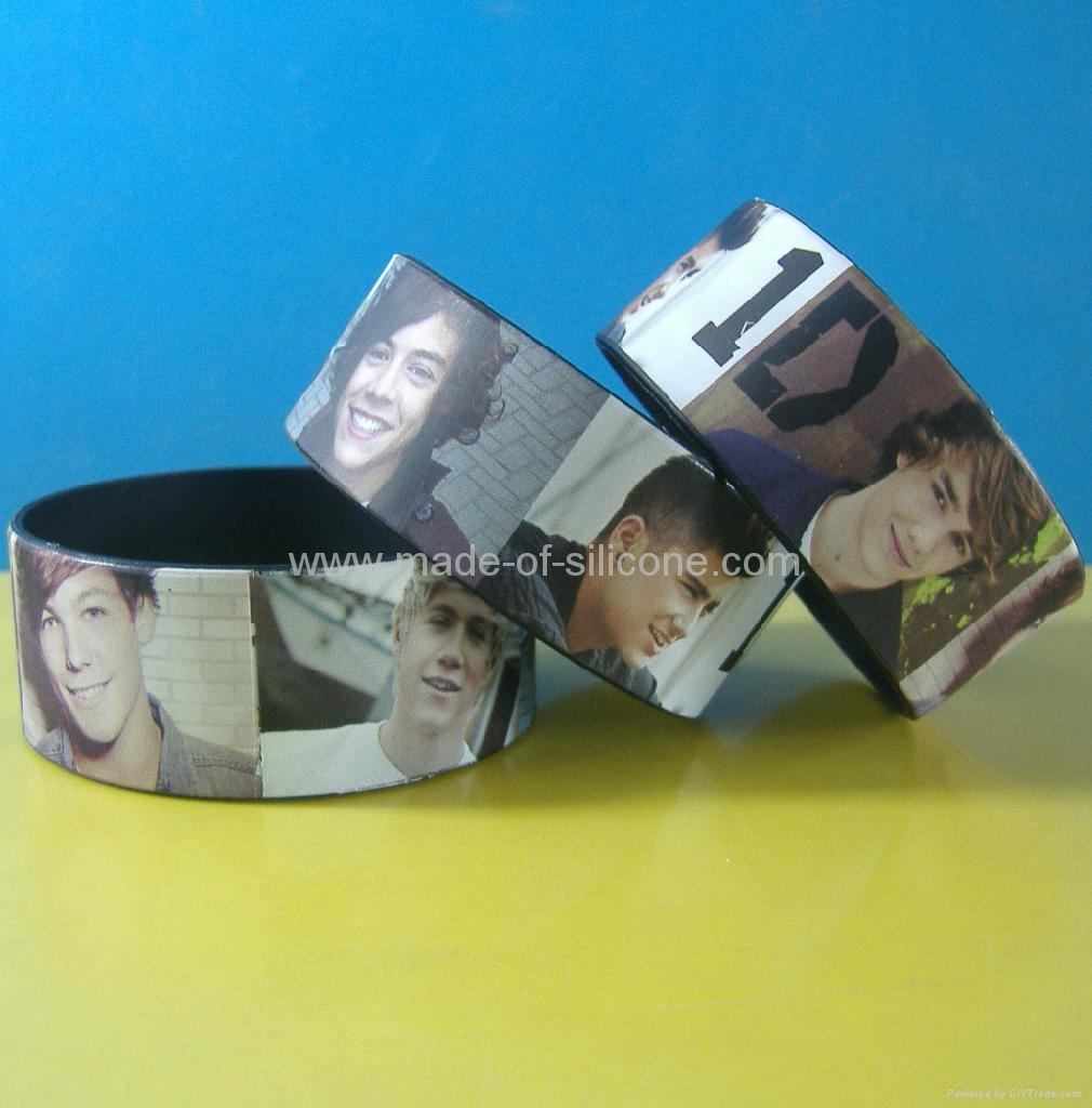 High Definition  Printing Silicone Wristbands 5
