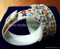 High Definition  Printing Adjustable Silicone Wristbands 3