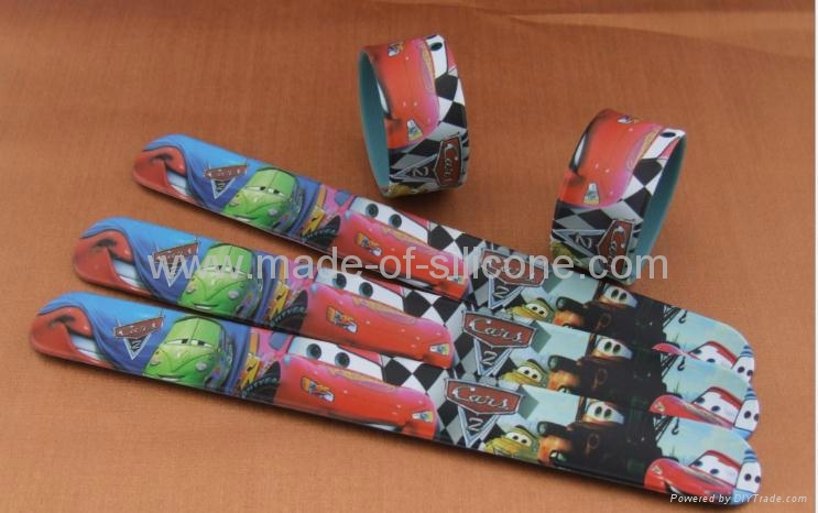 High Definition Printing Slap Silicone Wristbands 2