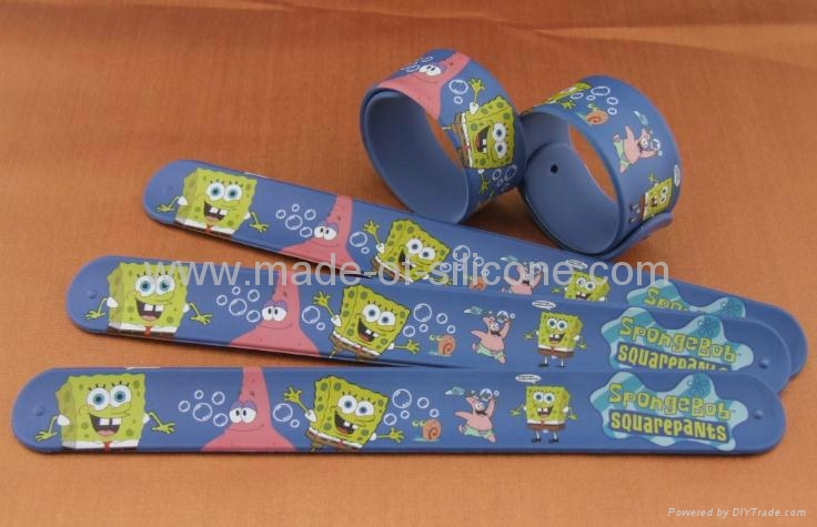 High Definition Printing Slap Silicone Wristbands 3