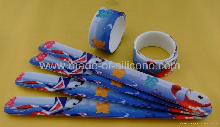 High Definition Printing Slap Silicone Wristbands 4