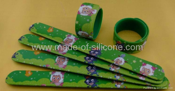High Definition Printing Slap Silicone Wristbands 6