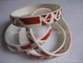 12mm Embossed Printed Silicone Wristbands 4