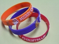 12mm Embossed Printed Silicone Wristbands 5