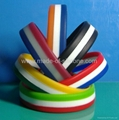 Segmented Color Silicone Wristband