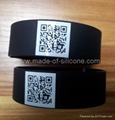 QR code silicone wristband  2