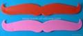 Mustache Silicone Slap wristband /Cramp wristband